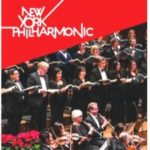 three images with Joe Campolo at Holiday party, ad for New York Philharmonic, and Happy Holidays image