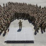 CMC Speaks to Camp Pendleton Marines in semi circle