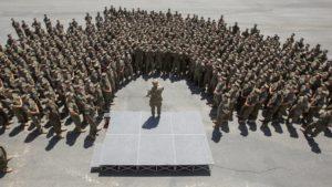 CMC Speaks to Camp Pendleton Marines in semi circle