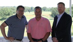 Joe Campolo with St. George's Brian Burtain and Frank Morgigno
