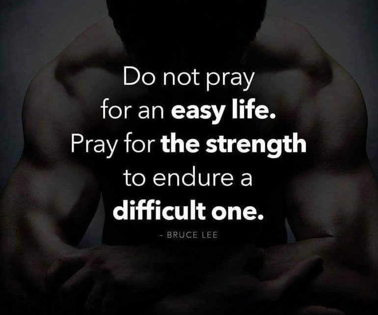 do not pray for an easy life quote